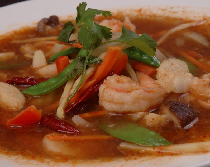 Spicy Thai Soup With Shrimp Thai Shrimp And Scallop Spicy